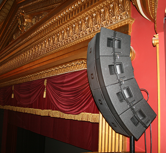 Instalación Line Array Teatro Olimpia